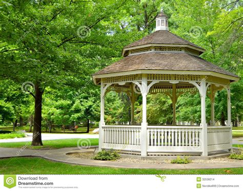 gazebo in a park stock images image 32538214