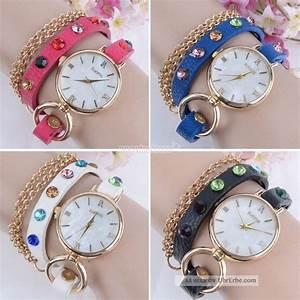 Retro Uhr Damen : damen retro synthetische lederband wrap uhr rhinestone armband armbanduhr ~ Markanthonyermac.com Haus und Dekorationen