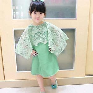 baju dress pesta kombinasi brukat anak perempuan terbaru