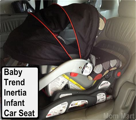 Mom Mart Baby Trend Inertia Infant Car Seat