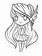 Coloring Pages Simple Chibi Children sketch template