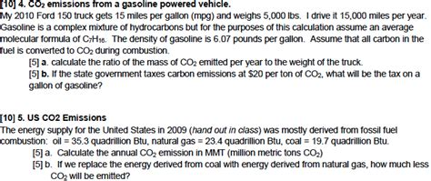 [10] 4. Co2 Emissions From A Gasoline Powered Vehi