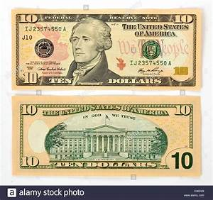 10 U.S. dollar banknote, front and back Stock Photo ...