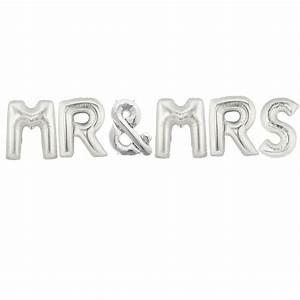 Mr mrs letter foil balloons 34in90cminflated buy for Mr and mrs letter balloons