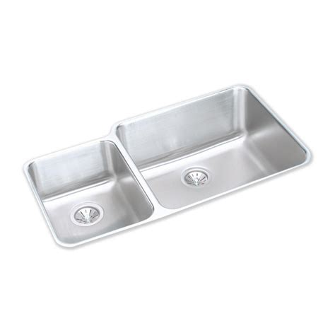 elkay stainless steel kitchen sinks elkay lustertone undermount stainless steel 35 in 8866