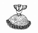 Coloring Pages Dresses Pretty Printable Summer Drawing Books Getdrawings Gown Frozen sketch template