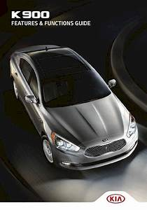 2015 Kia K900  U2013 Features And Functions Guide  U2013 52 Pages