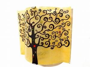 Arbre De Vie Deco : applique d 39 ambiance d corative jaune moisson arbre de vie ~ Dallasstarsshop.com Idées de Décoration
