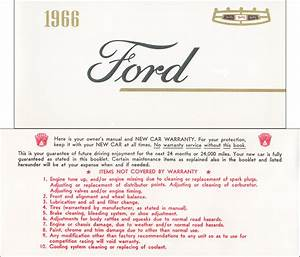 1966 Ford Galaxie  U0026 Ltd Wiring Diagram Manual Reprint