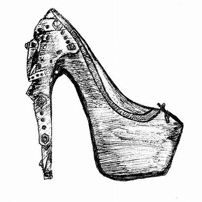 Drawing Shoe Running Heels Heel Shoes Draw