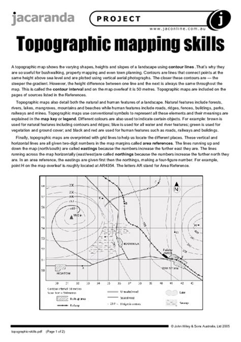 Topographic Mapping Skills Worksheet  Lesson Planet  Earth Science  Pinterest  Lesson Planet