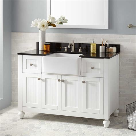 Small White Vanity by 48 Quot Nellie Farmhouse Sink Vanity White Bathroom