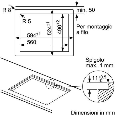 Dimensioni Piano Cottura 4 Fuochi by Misure Piano Cottura 4 Fuochi 28 Images Dimensioni