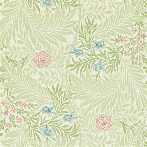 Larkspur Wallpaper  Greencoral (212558)  William Morris