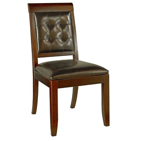 american drew tribecca leather dining chair in root