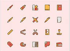 Office and Desk Icons Sketch freebie Download free