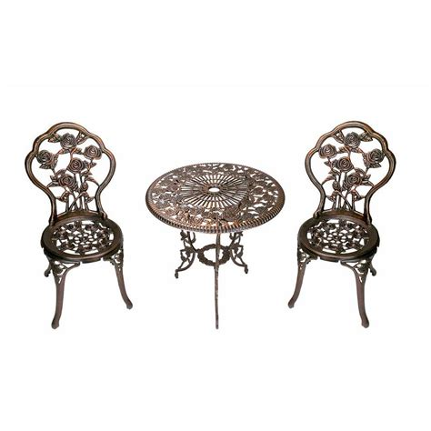 oakland living 3 patio bistro table set 3705 ab
