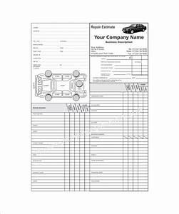 repair estimate template 18 free word excel pdf With mechanic job card template