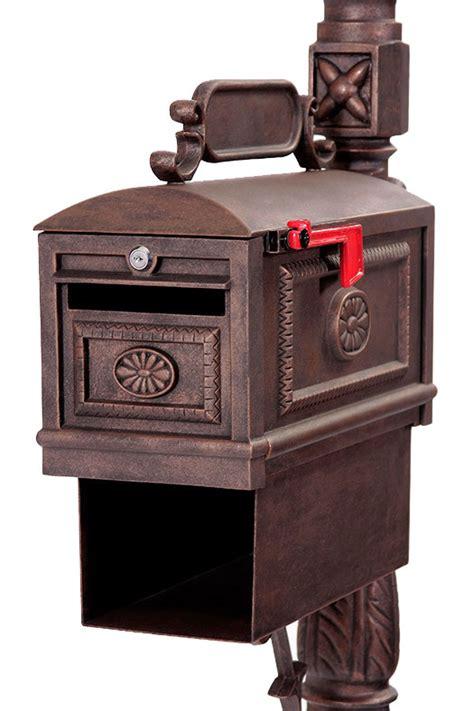 locking mailbox  paper box bronze streetside