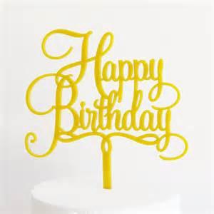 gold cake topper happy birthday cake topper dillon design