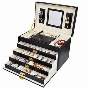 Boite Cadeau Bijoux : grande boite bijoux luxe xxl noire bo tes bijoux espace bijoux ~ Teatrodelosmanantiales.com Idées de Décoration