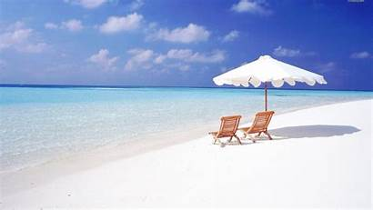 Sand Beach Wallpapers Beaches Chairs Maldives Background