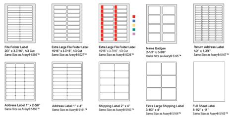Avery 5351 Label Template by Avery Labels 5351 Template