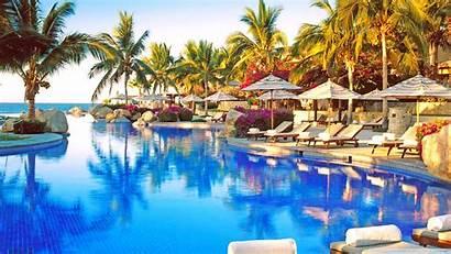 Resort Tropical Pool Desktop Background 4k Wallpapers