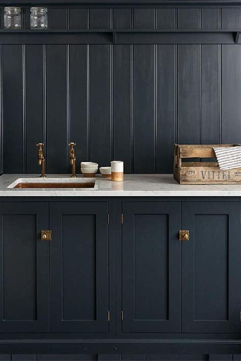 devols shaker kitchen pantry blue  carrara marble