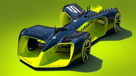 Kinds Of Race Cars by The Roborace S Self Driving Race Car Is Every Of
