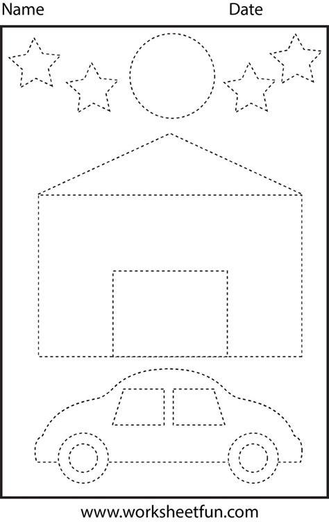 shapes tracing shapes preschool worksheets shapes