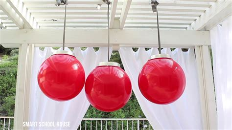 how to make giant christmas ornaments with a ball youtube