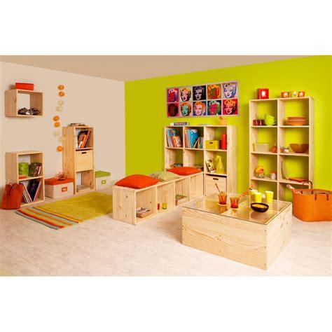 etagère cube modulo 9 cases pin massif meubles en pin
