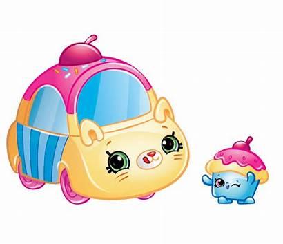 Shopkins Cars Characters Cutie Cupcake Cruiser Clipart