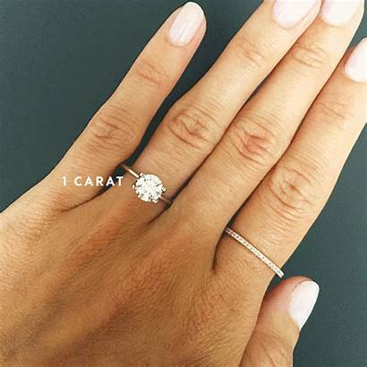 Ring Engagement Carat Rings Sizes Different Comparison