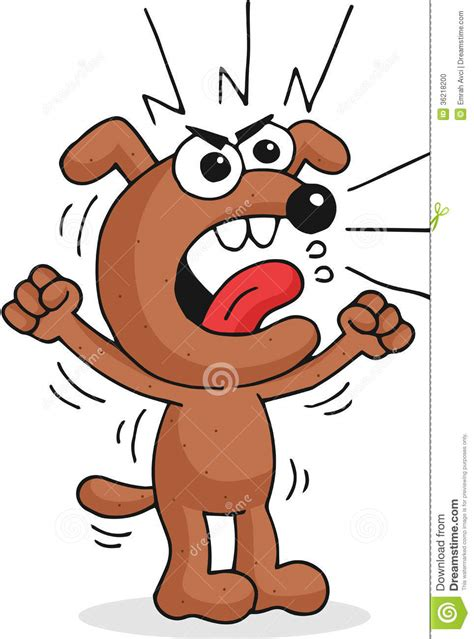 angry dog stock illustration illustration  doggy