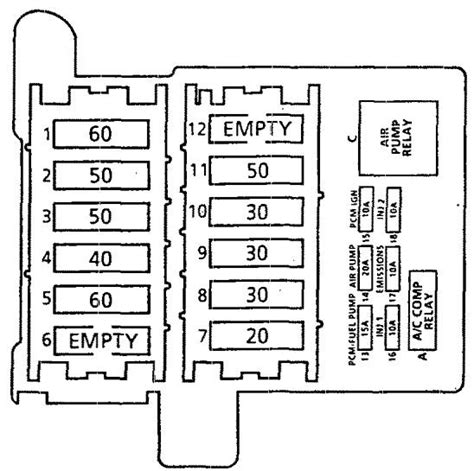 1994 Cadillac Fuse Diagram by Cadillac Commercial Chassis 1994 Fuse Box Diagram