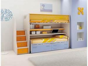 Lit Mezzanine Pour Enfant : lit mezzanine pour enfant mi hauteur avec bureau ~ Teatrodelosmanantiales.com Idées de Décoration