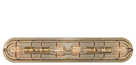 deep projection vanity light murray feiss urban renewal 4 bulb dark antique brass