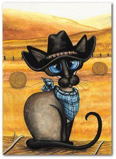 catsart western images   kattkonst cat