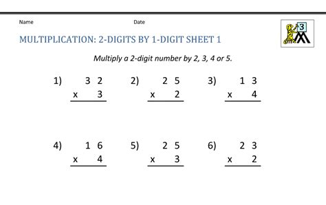 math worksheets  grade  multiplication