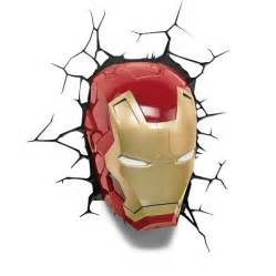 marvel 3d wall nightlight iron man mask target