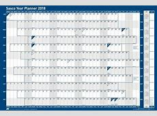 Year Planners 2018 by Sasco Planners Wall Mounted Year