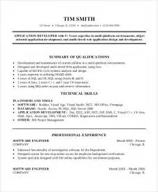 professional summary resume exles for software developer sle software engineer resume 8 exles in word pdf