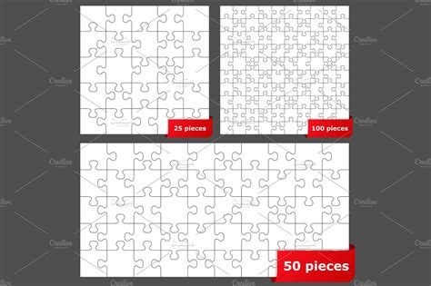 puzzle illustrations creative market