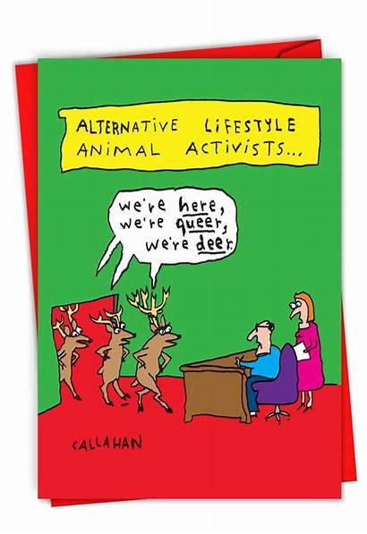 Card John Christmas Callahan Alternative Funny Greeting