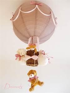 Lampe Chambre Fille : lampe montgolfi re fille taupe et rose enfant b b luminaire enfant b b decoroots ~ Preciouscoupons.com Idées de Décoration