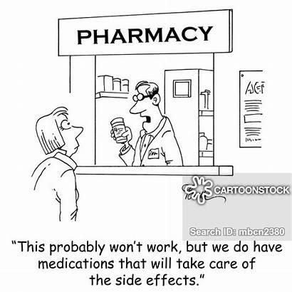 Side Pharmacist Effects Cartoon Cartoons Pharmacists Funny