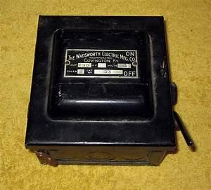 Vintage Wadsworth Electric Mfg Co Covington Ky 30 Amp Fuse
