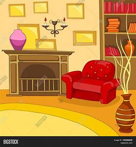 Hand Drawn Cartoon Living Room. Image & Photo | Bigstock